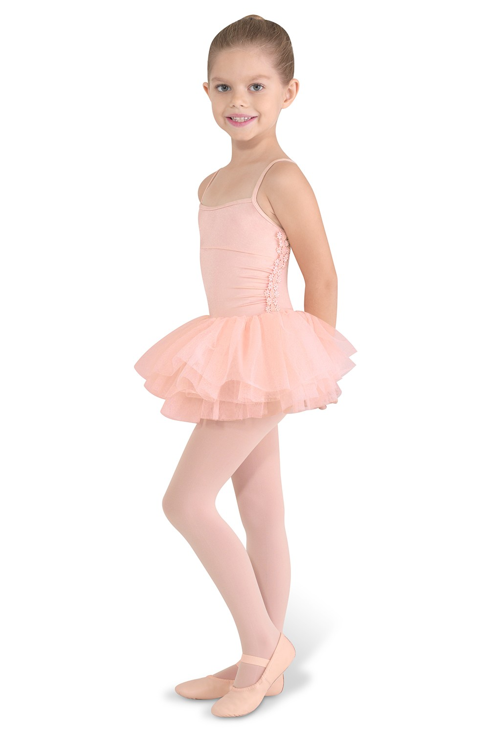 Side Gather Tutu Leo Children's Dance Leotards