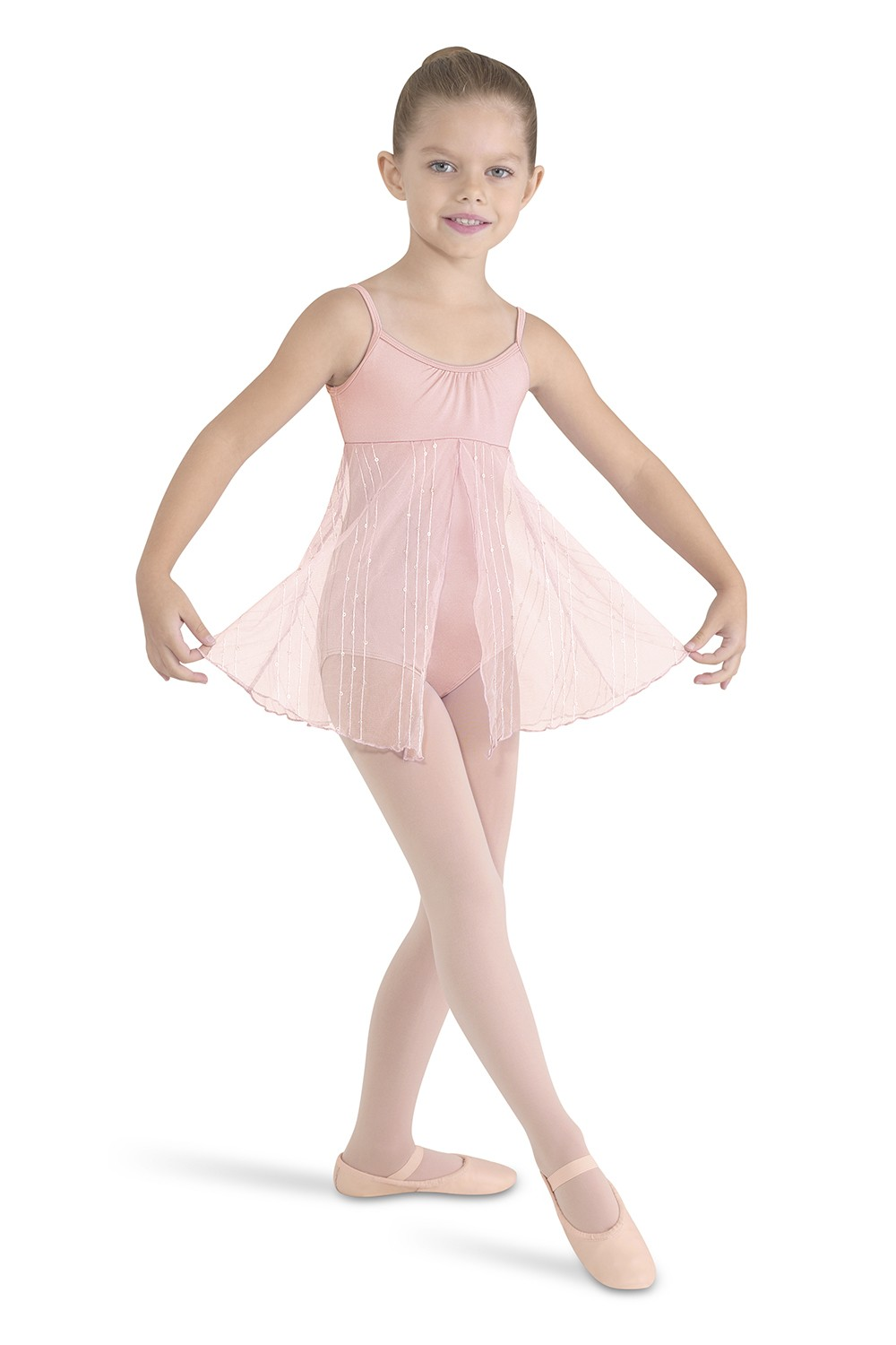 Split Front Camisole Dress Children's Dance Leotards