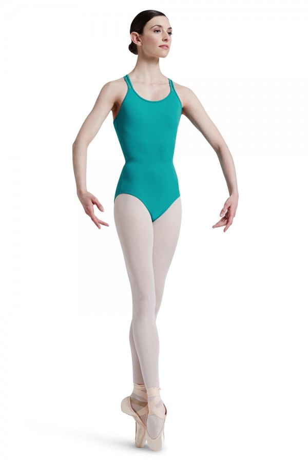image - Mirella Lattice Elastic Cross Back Band Tank Leota Women's Dance Leotards