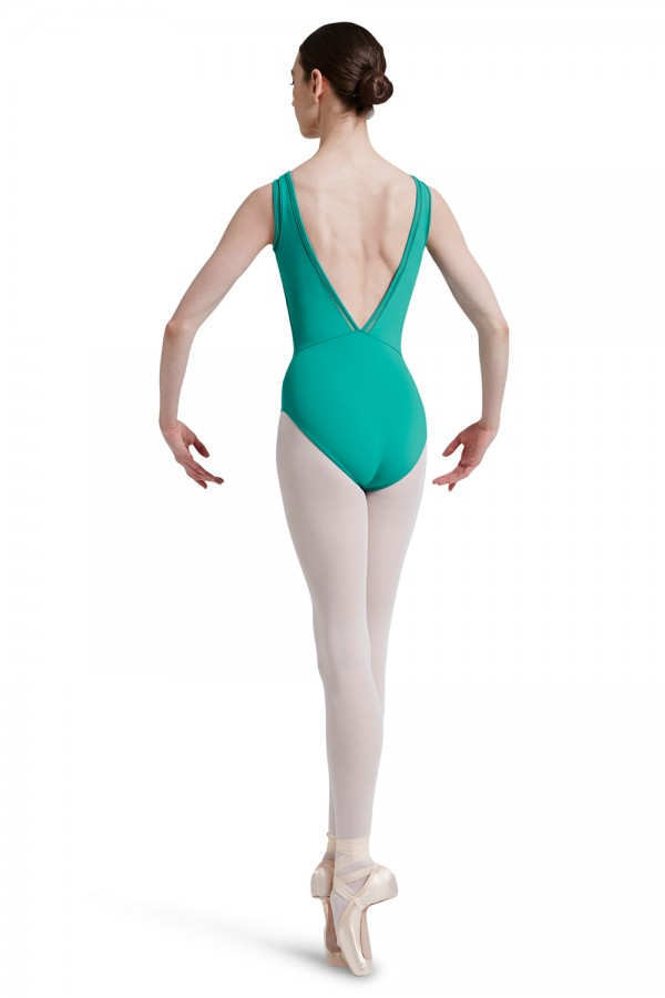 image - Deep Vee Back Tank Leotard Women's Dance Leotards