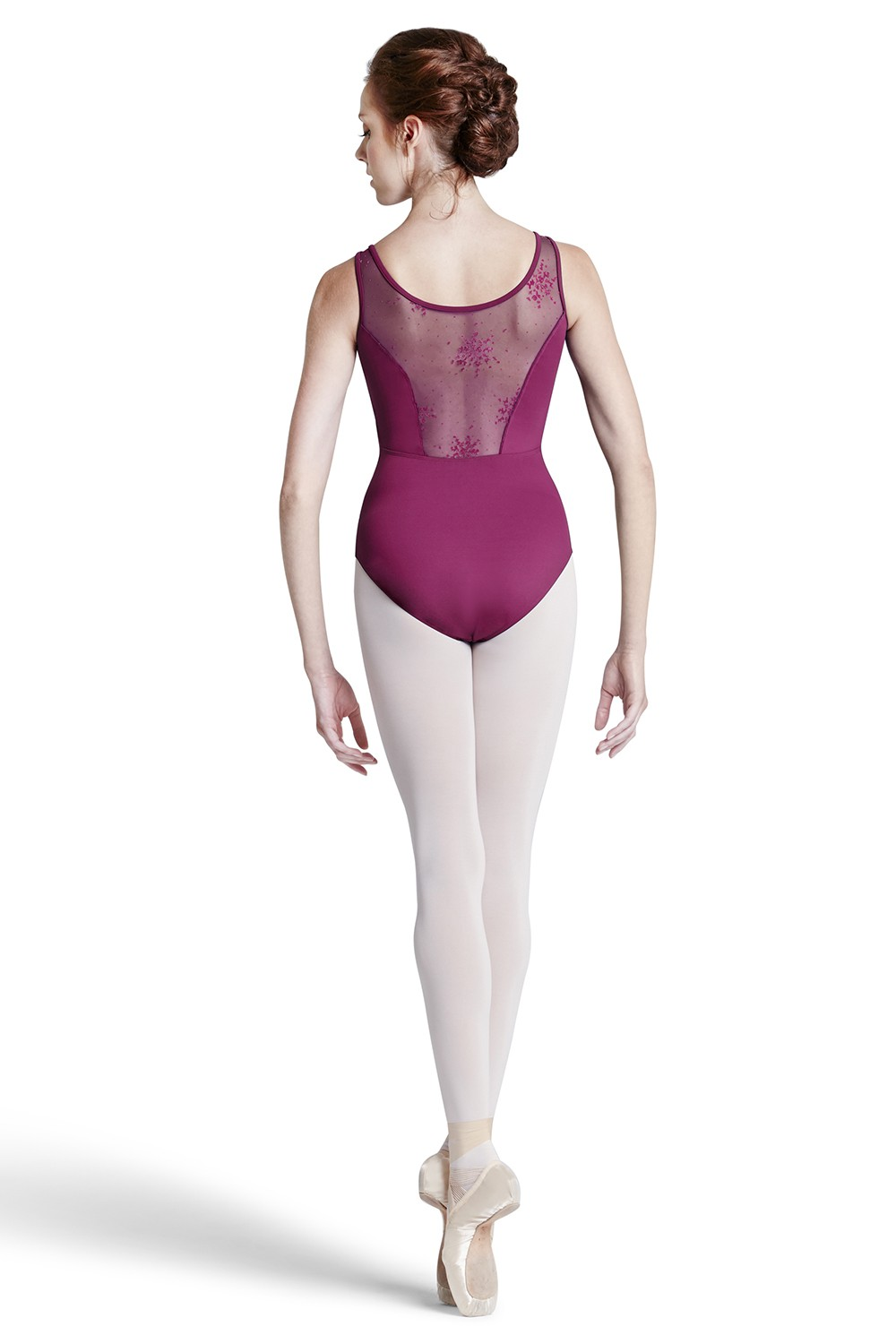 Justaucorps Sans Manches Flocage Sur Maille Womens Tank Leotards