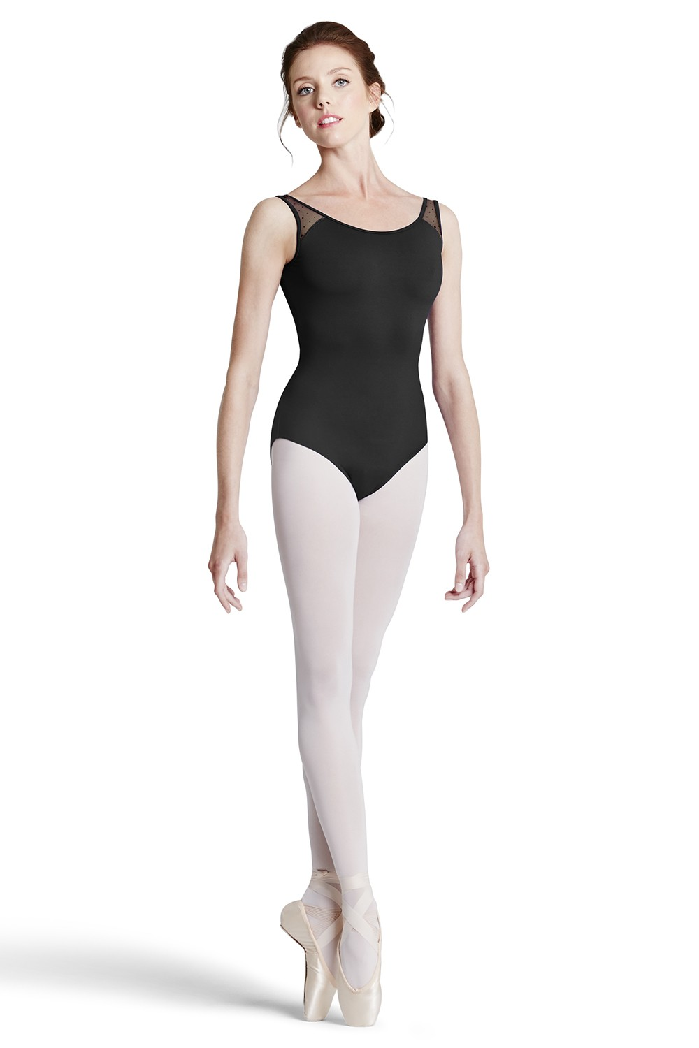 Flock Mesh Tank Leotard - Tween Women's Dance Leotards