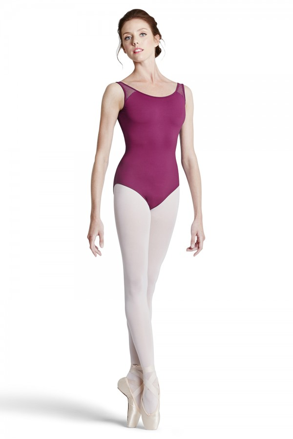 image - Flock Mesh Tank Leotard - Tween Women's Dance Leotards