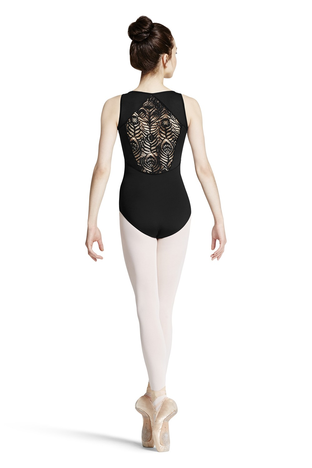 Body A Spallina Larga Con Pizzo A Piuma Di Pavone Women's Dance Leotards