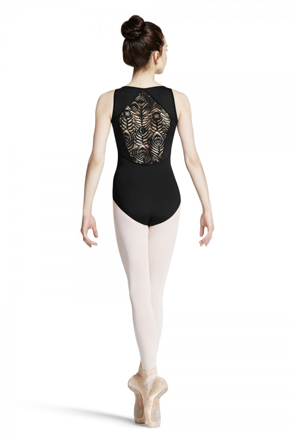 image - PEACOCK PLUME DIAMOND BACK TANK LEOTARD Women's Dance Leotards