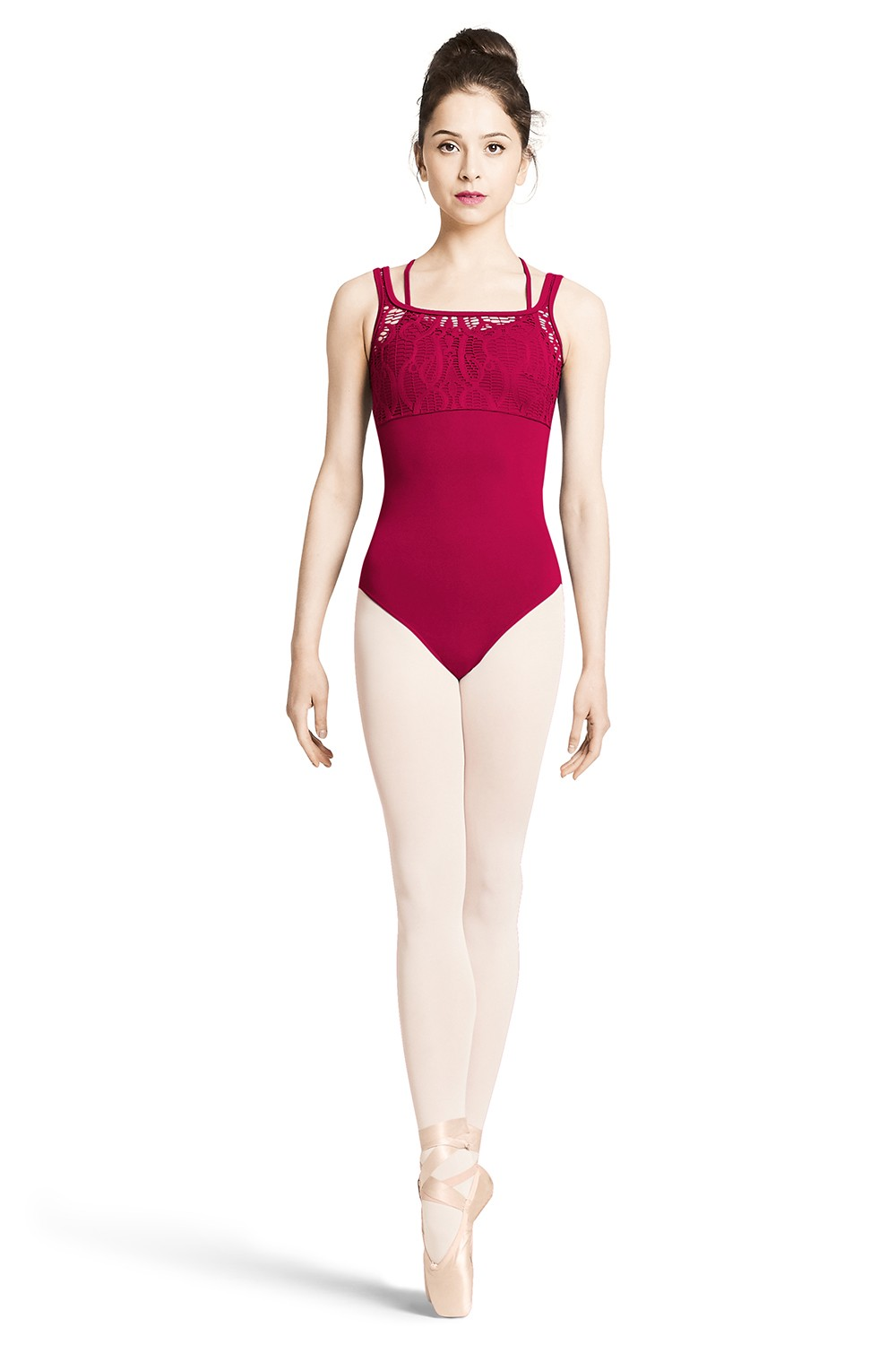 Justaucorps Sans Manches Corsage En Dentelle - Jeune Fille Children's Dance Leotards