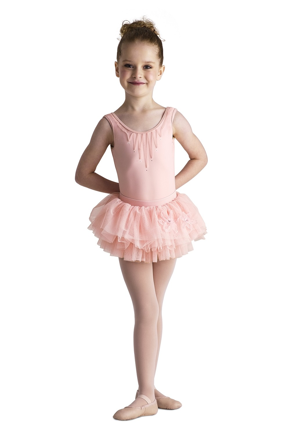 Ribbon Applique Tank Children's Dance Leotards