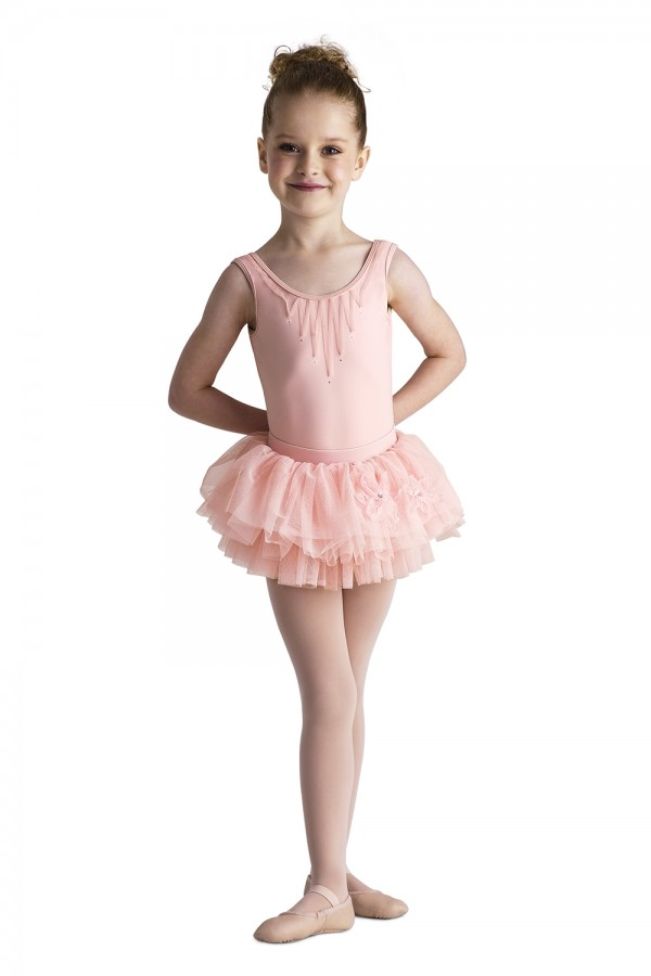 image - Ribbon Applique Tank Children's Dance Leotards