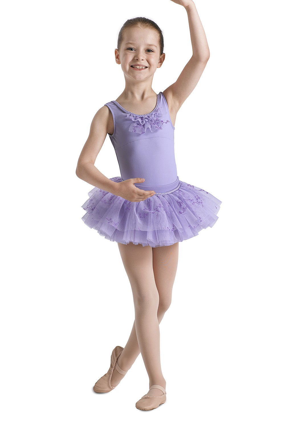 Glitter Ruffle Tank Children's Dance Leotards