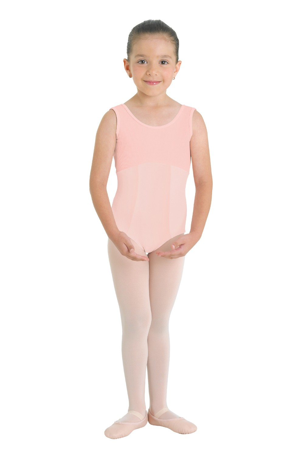 Ribbed Bodice Tank Leotard Children's Dance Leotards