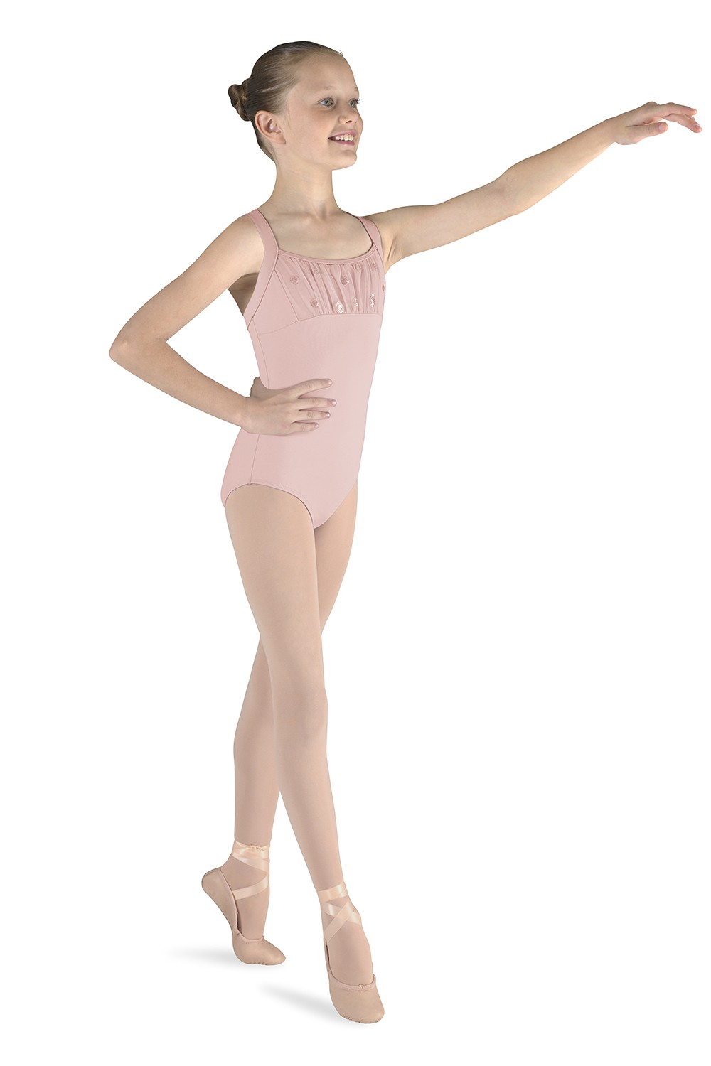 Spiral Sequin Tank Children's Dance Leotards