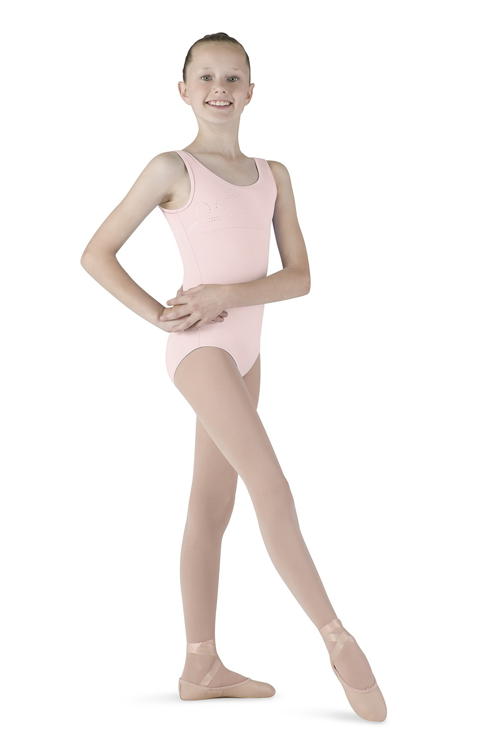 Diamante Swirl Tank Children's Dance Leotards