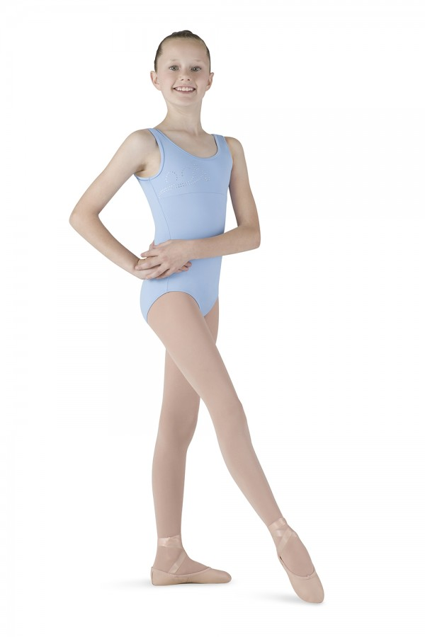 image - Diamante Swirl Tank Children's Dance Leotards