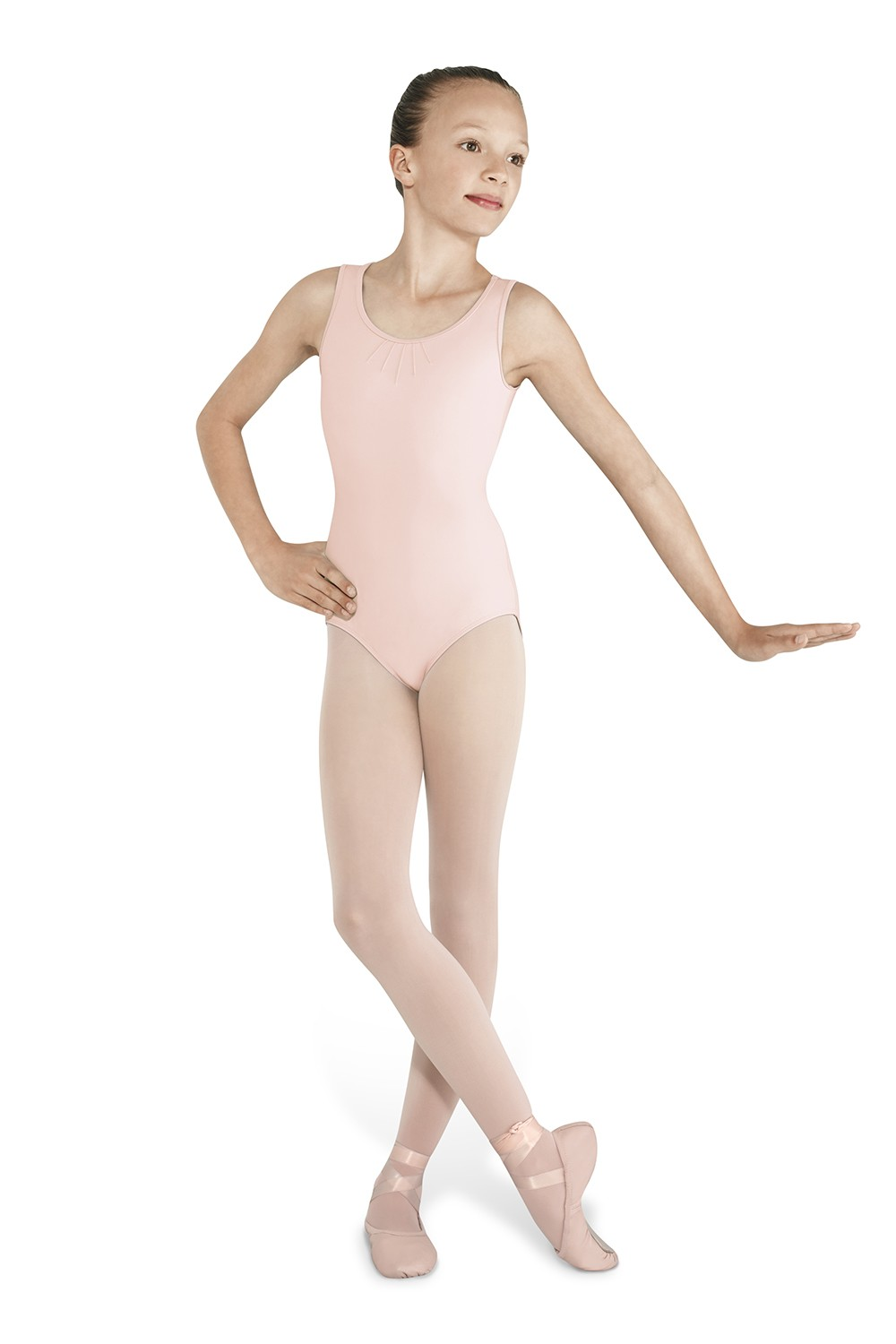 Pintuck Back Tank Children's Dance Leotards