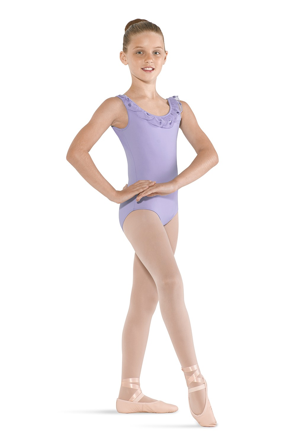 Petal Neckline Tank Children's Dance Leotards