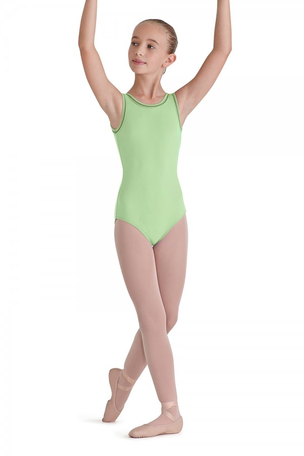 image - Lattice Trim Tank Children's Dance Leotards