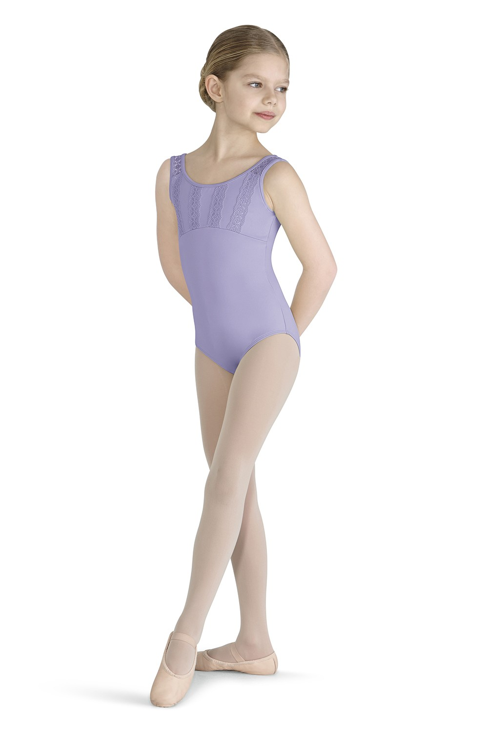 Lace Trim Tank Leotard Children's Dance Leotards