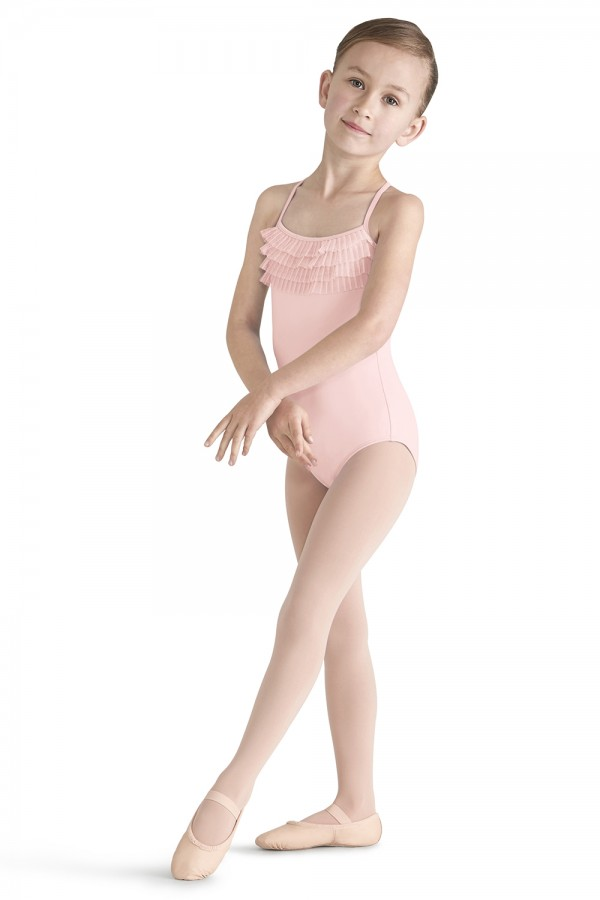 image - Tulle Bust Cami Leo Children's Dance Leotards