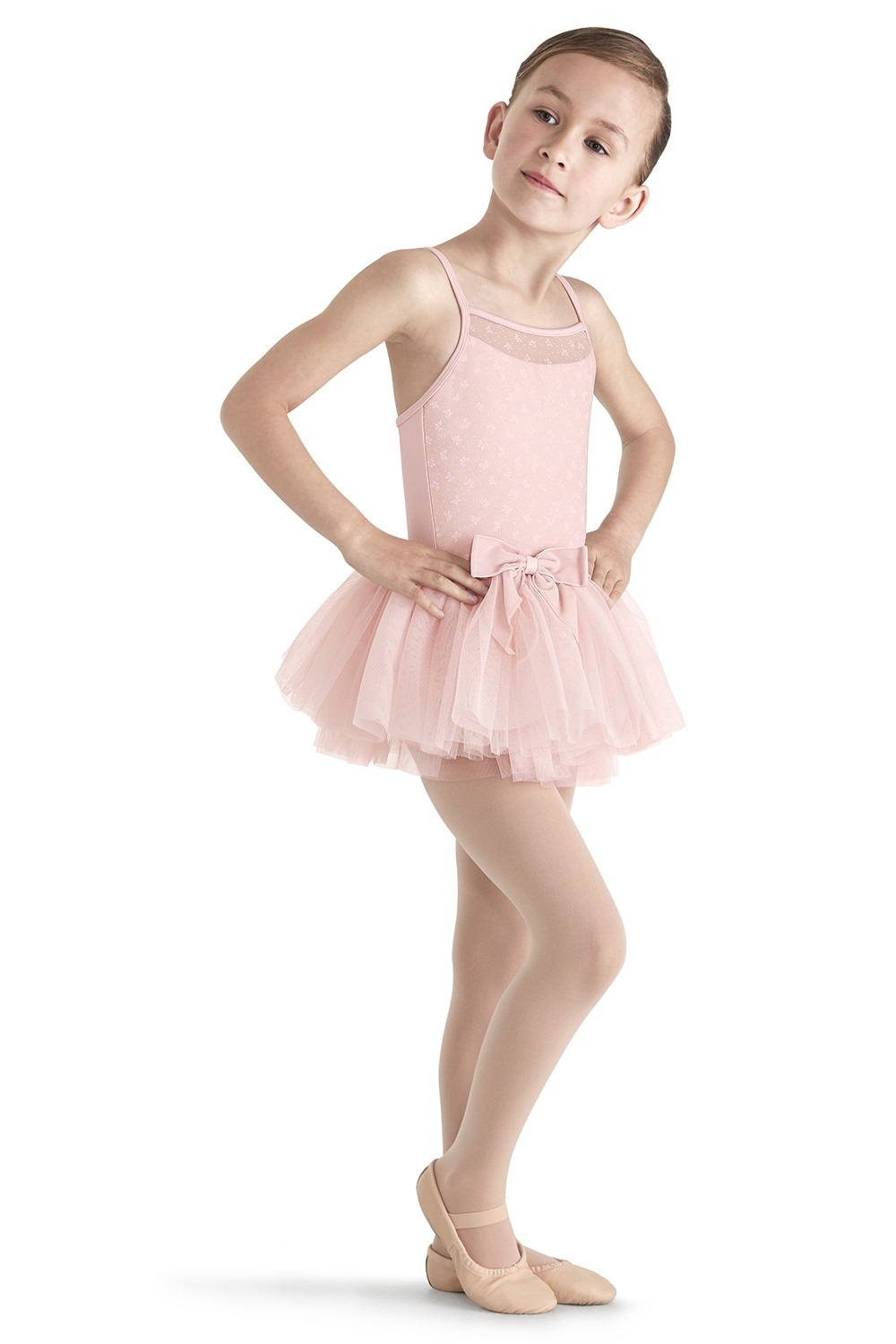 Flock Mesh Camisole Tutu Children's Dance Leotards