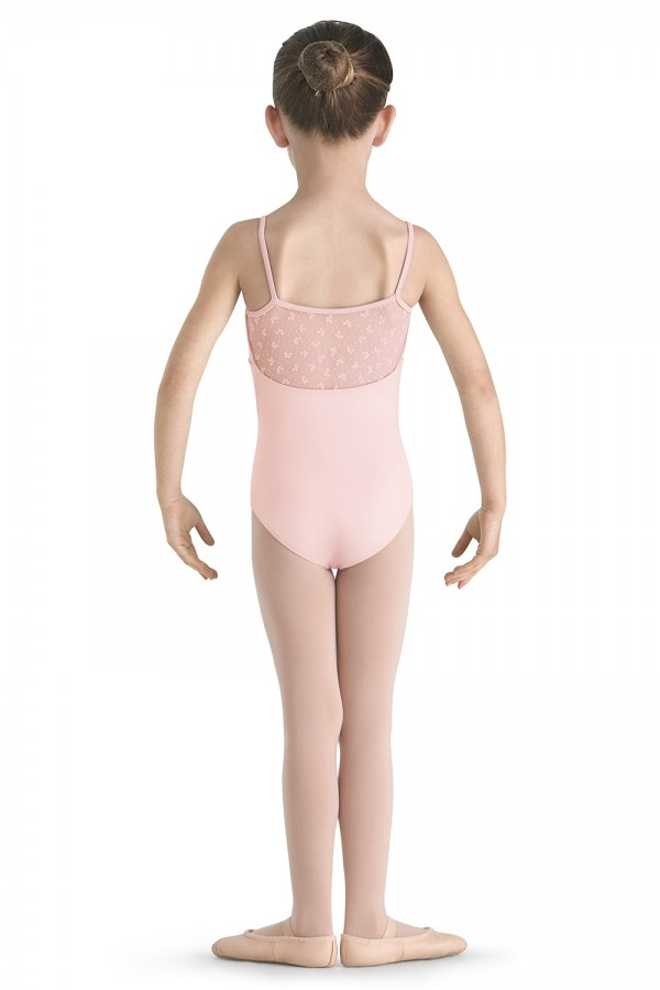 image - Flock Mesh Camisole Leotard Children's Dance Leotards