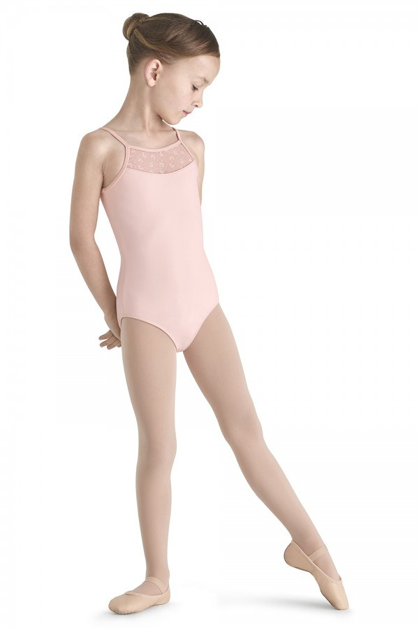image - Bow Back Flock Mesh Camisole Children's Dance Leotards