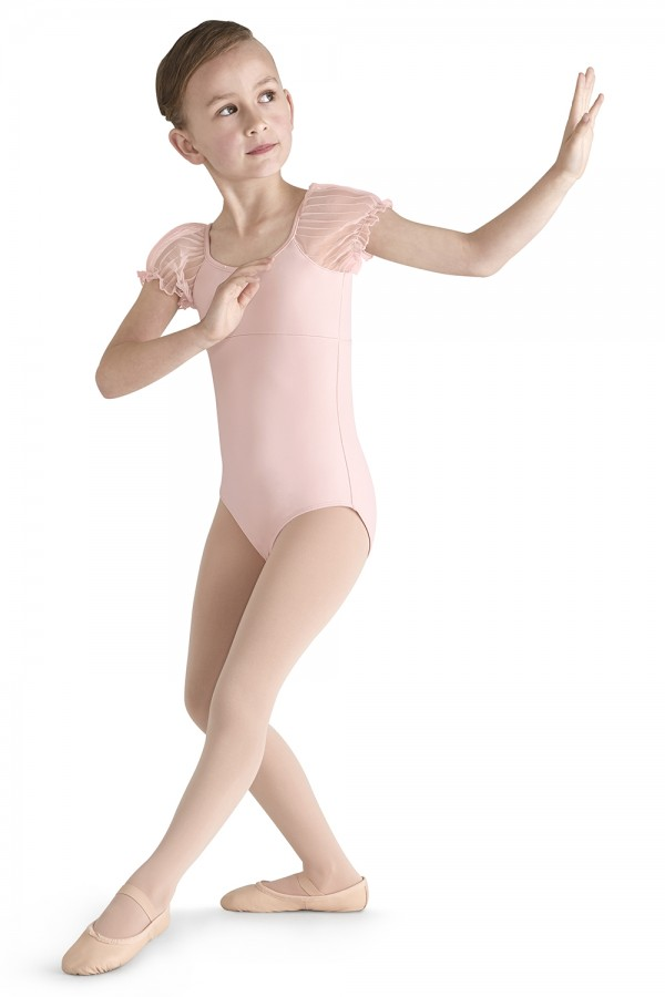 image - Tulle Puff Sleeve Leotard Children's Dance Leotards