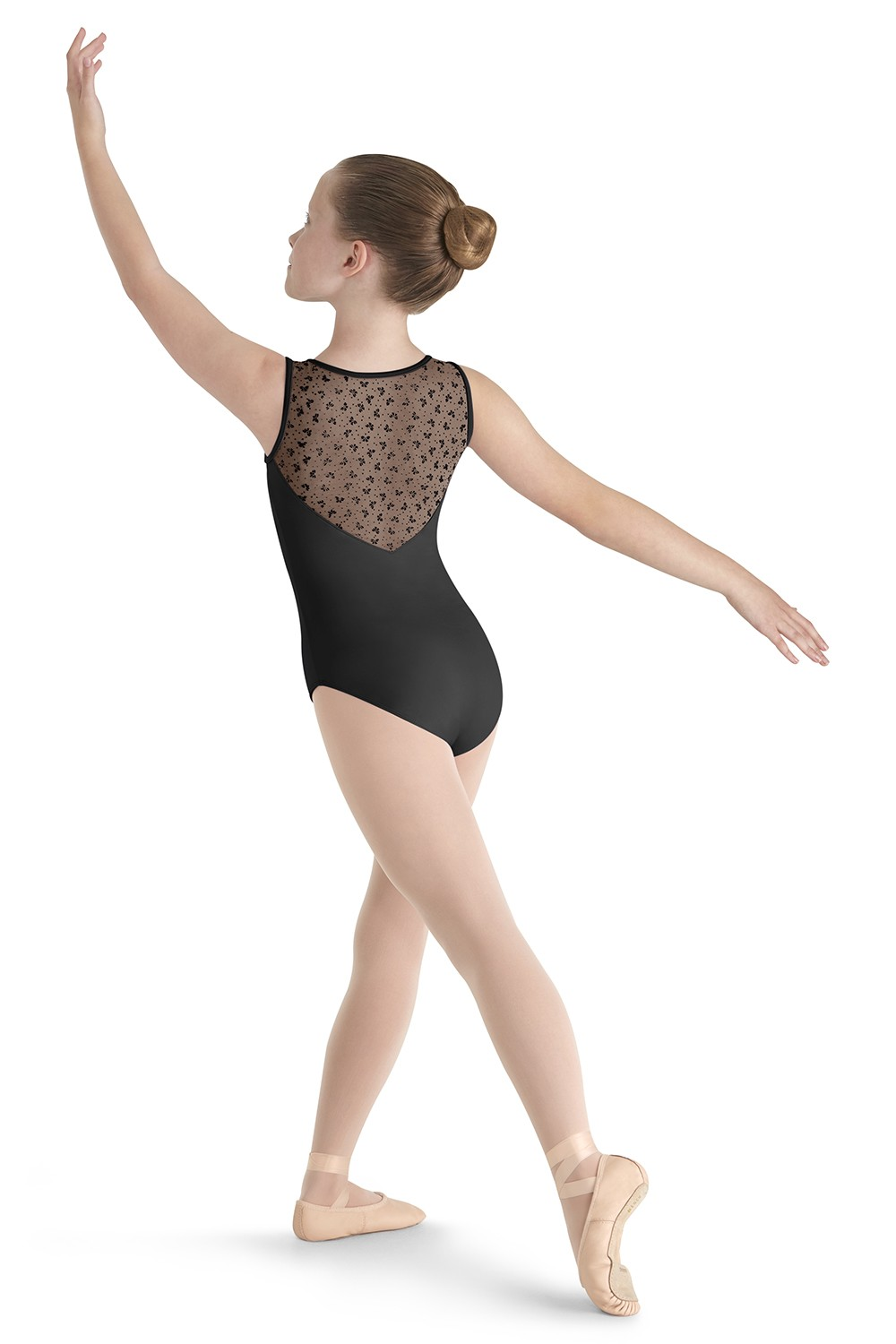 Justaucorps Sans Manches, Maille Floquée Girls Tank Leotards