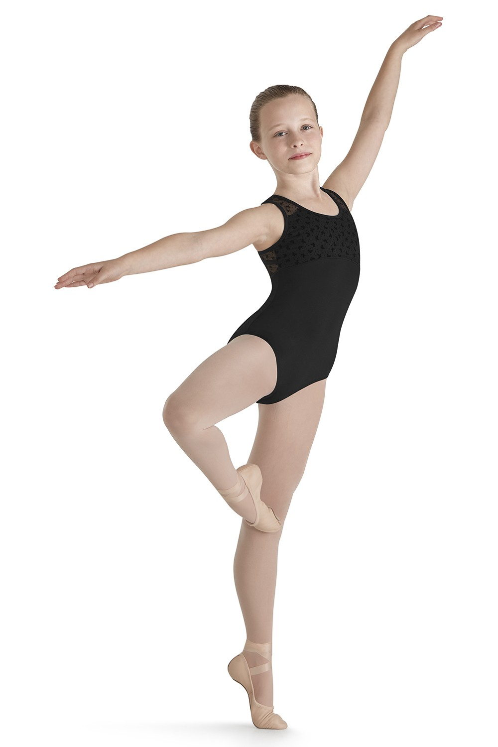 Flock Mesh Tank Leotard Children's Dance Leotards
