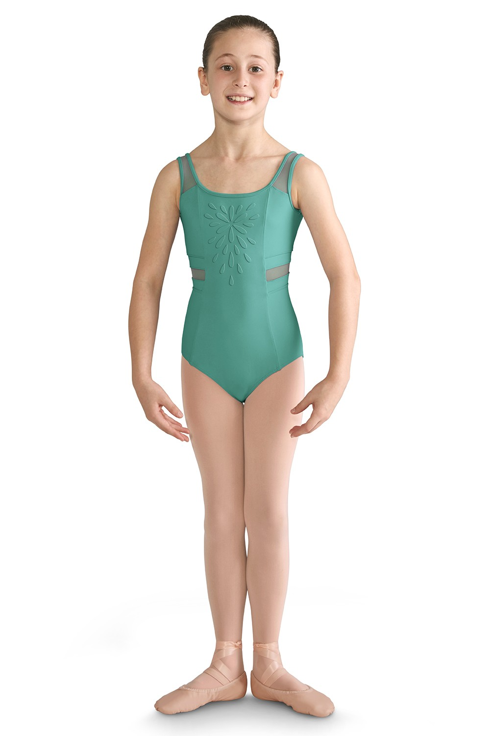Mesh Panelled Tank Leotard Children's Dance Leotards