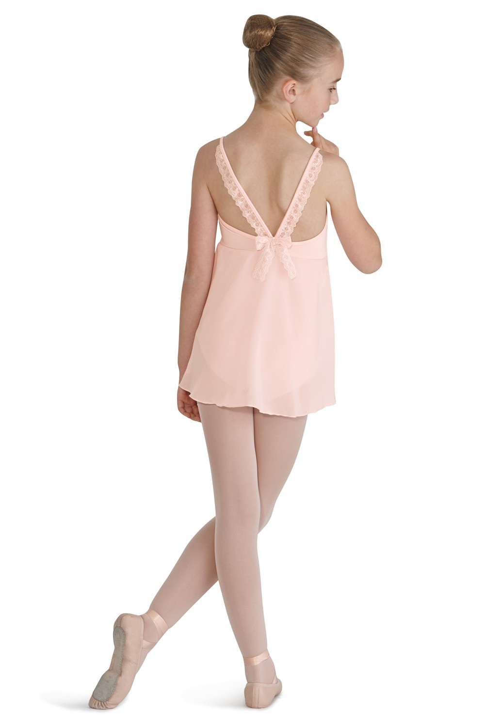 Bow Back Skirted Camisole Children's Dance Leotards