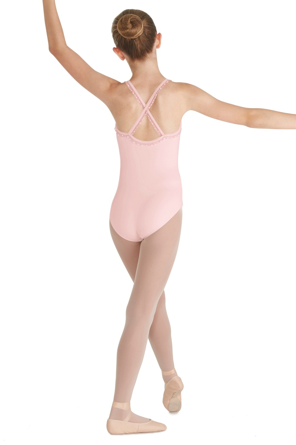 Frill Trim X-back Camisole Leotard Children's Dance Leotards