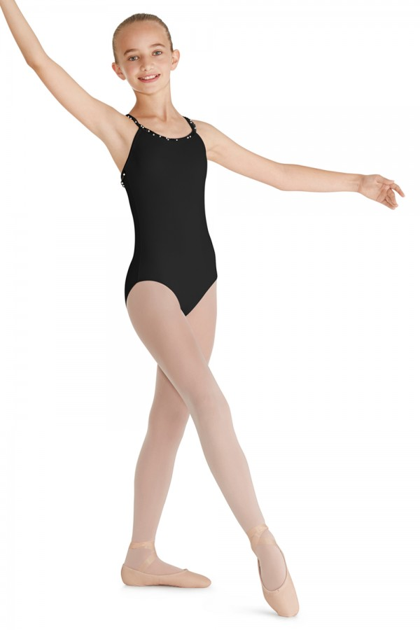 image - Frill Trim X-Back Camisole Leotard Children's Dance Leotards