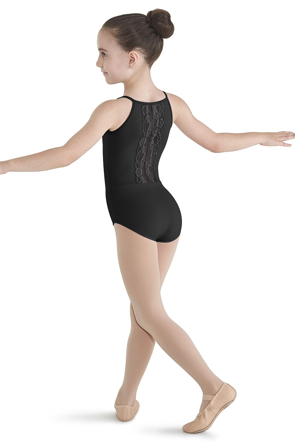 Lace Back Panel Leotard Girls Camisole Leotards