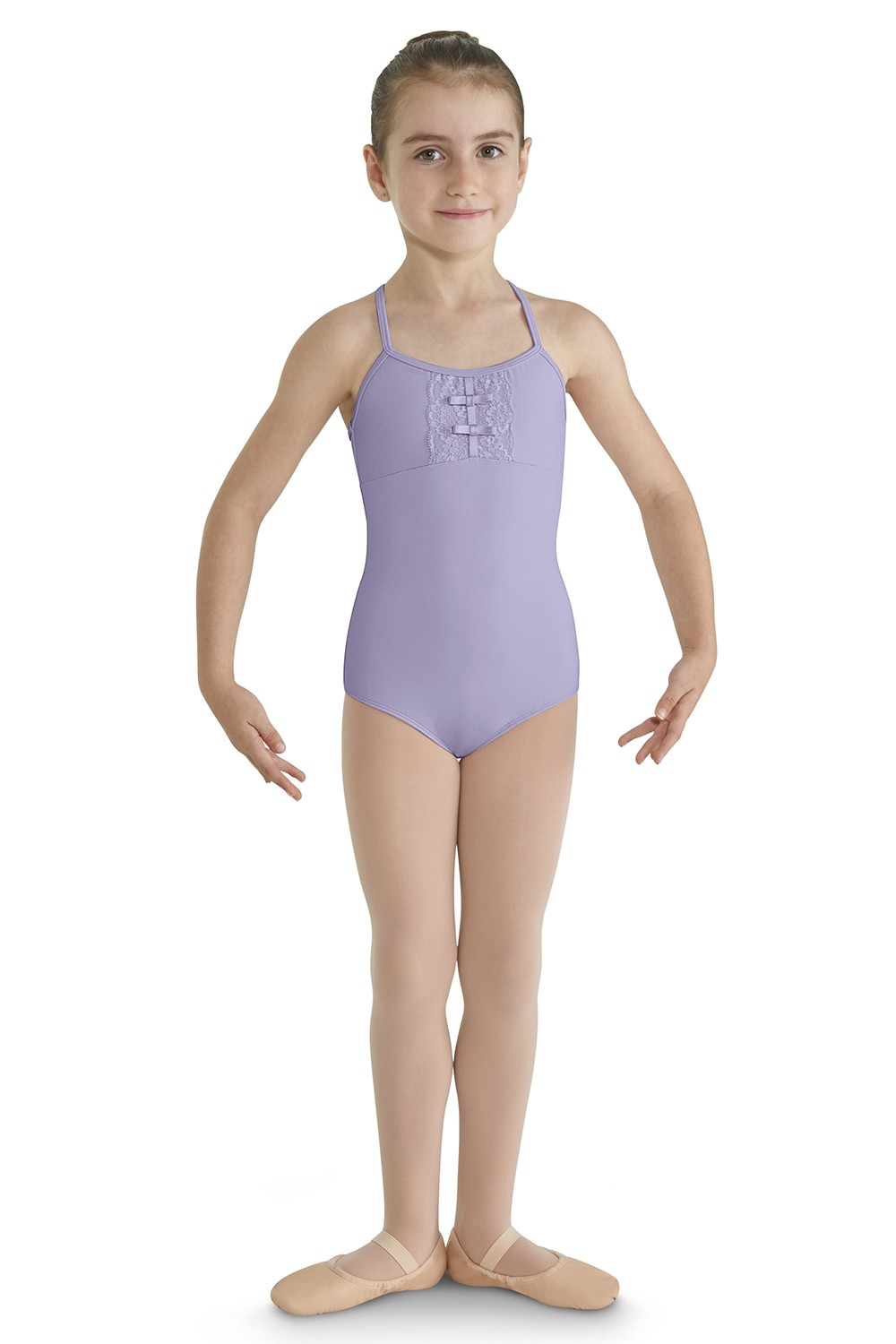Scalloped Lace Front Camisole Children's Dance Leotards
