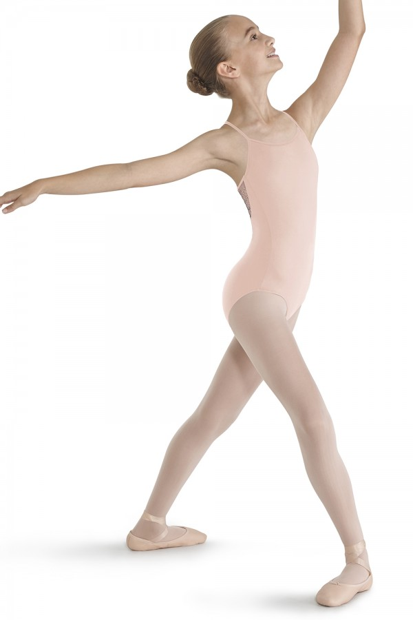 image - Crinkle Mesh Racer Back Leotard Children's Dance Leotards