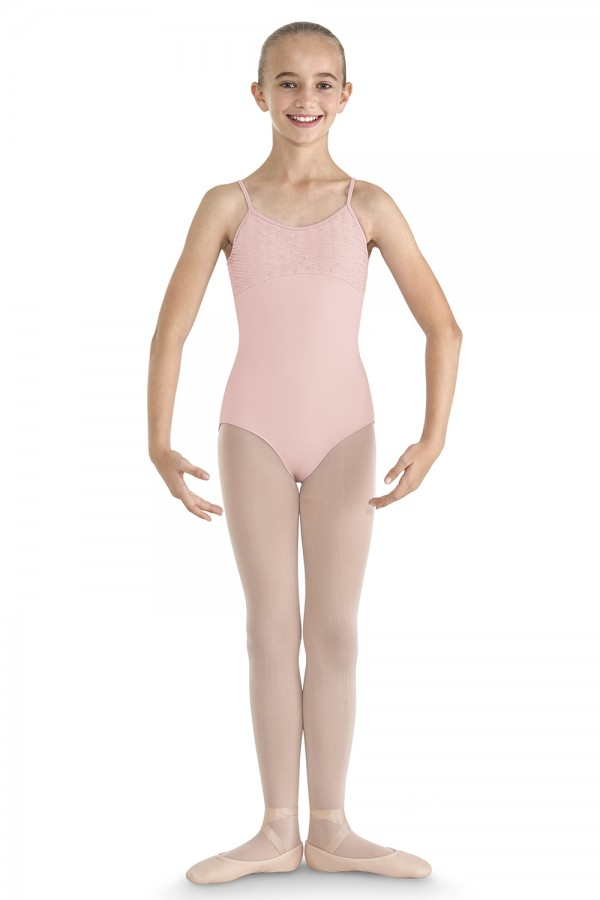 image - Crinkle Sequin Mesh Camisole Leotard Children's Dance Leotards