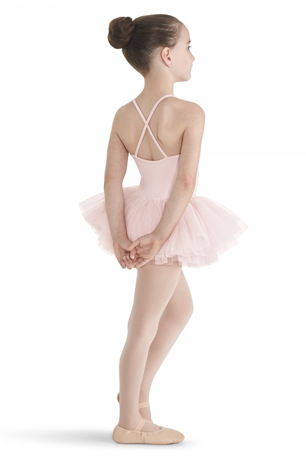 image - Crinkle Mesh Front Camisole Tutu Children's Dance Leotards