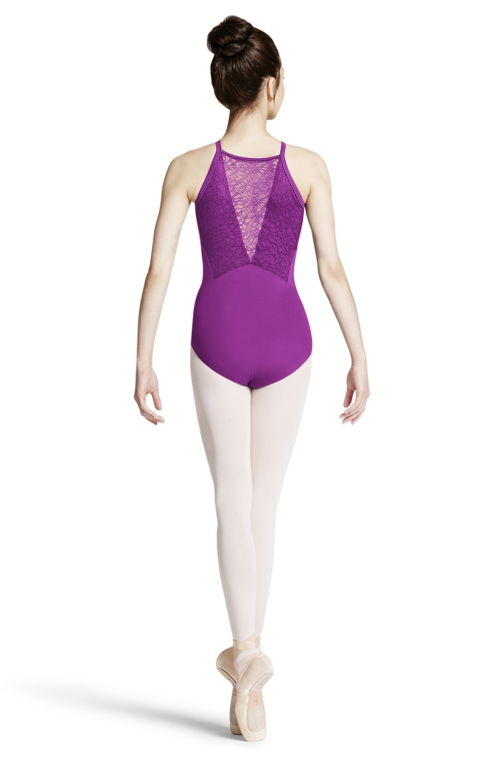 Body Con Spalline Sottili E Design A V In Pizzo Sul Retro Women's Dance Leotards