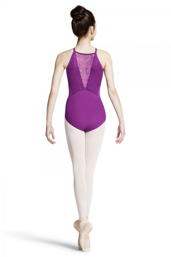 image - Lace Vee Back Camisole Leotard Women's Dance Leotards