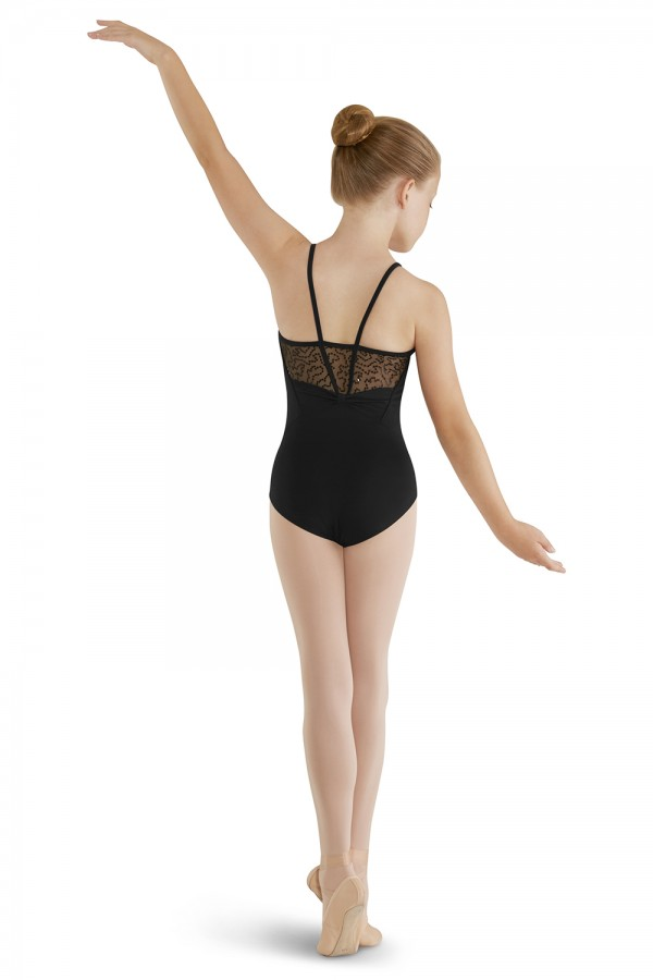 image - High Neck Sequin Tulle Camisole Children's Dance Leotards