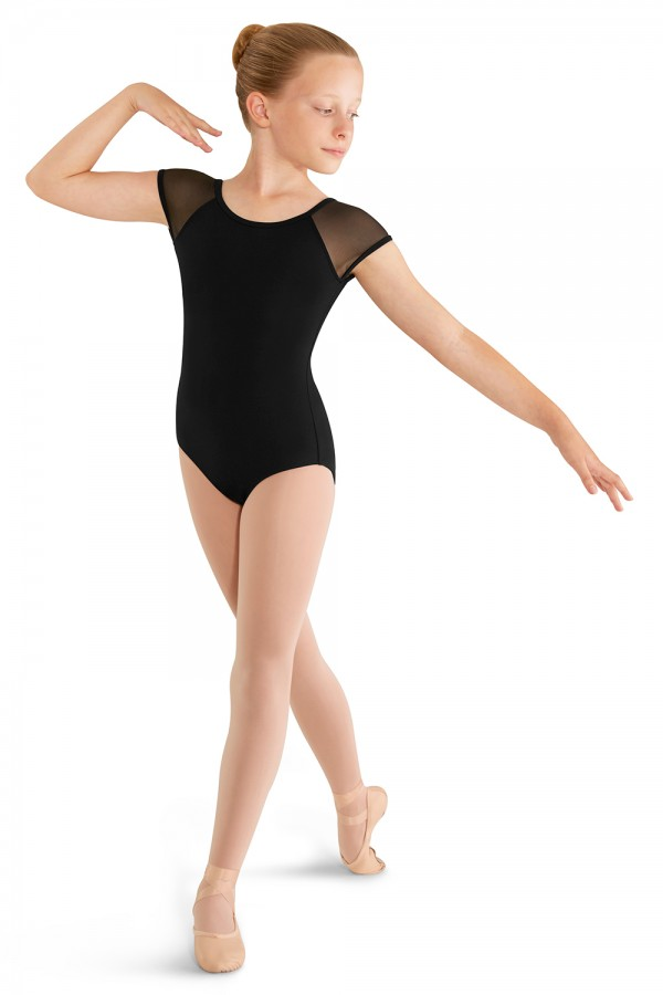 image - SOFT MESH CAP SLEEVE LEOTARD Children's Dance Leotards