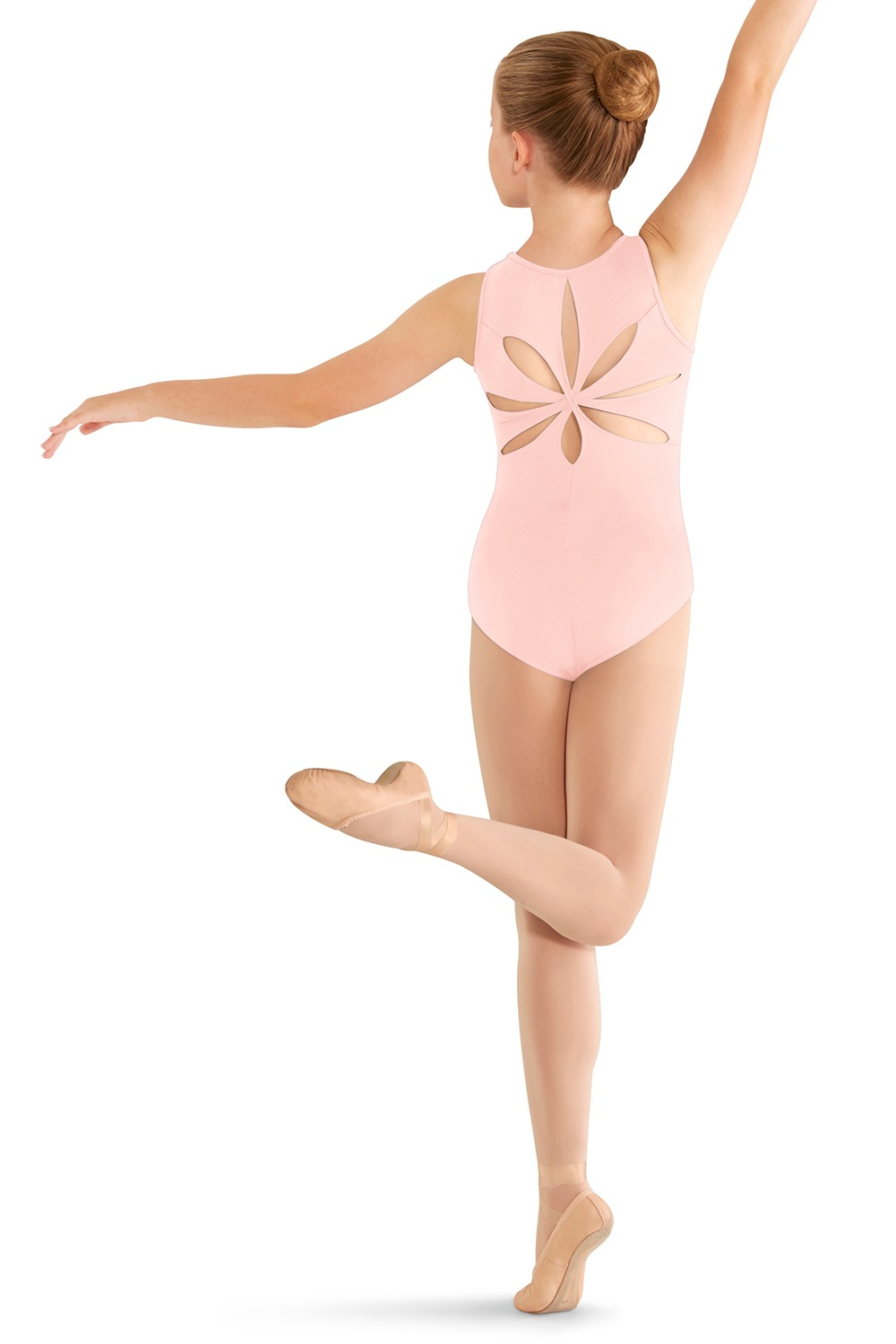 Justaucorps Sans Manches -  Détails Floraux Children's Dance Leotards