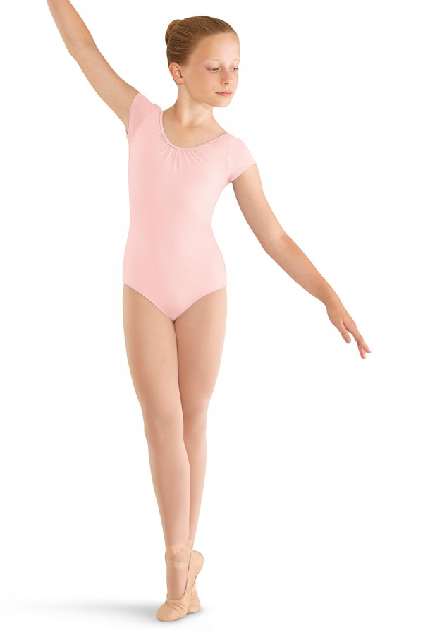 image - 3 Bow Back Cap Sleeve Leo Children's Dance Leotards