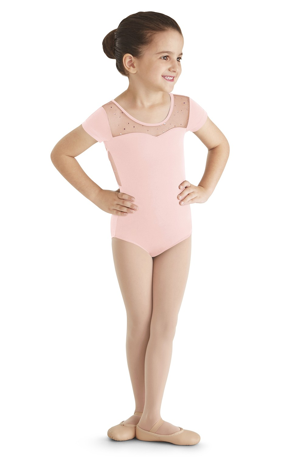 Justaucorps À Mancherons Girls Short Sleeve Leotards