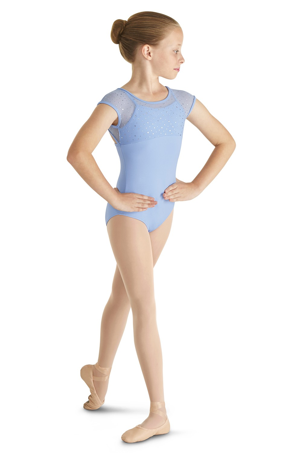 Soft Mesh Cap Sleeve Children's Dance Leotards