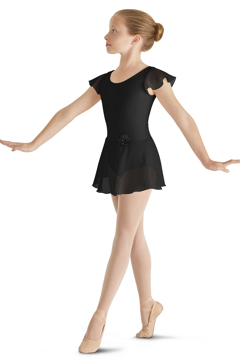 Skirted Flutter Sleeve Leotard Children's Dance Leotards