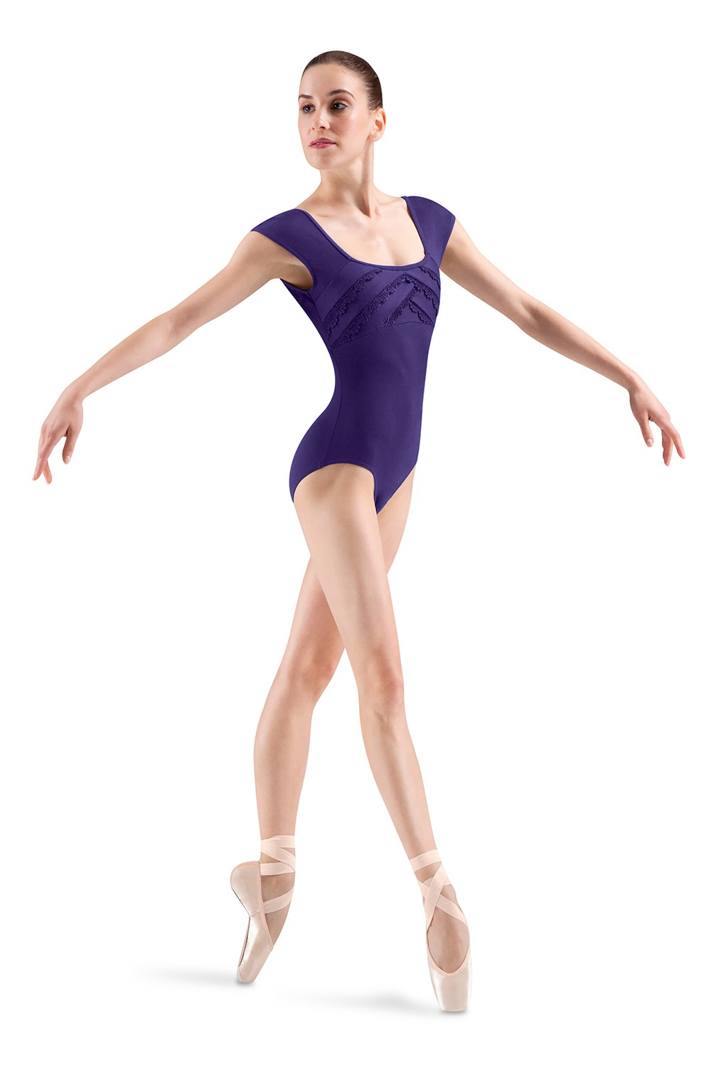 Overlap Front Cap Sleeve Women's Dance Leotards