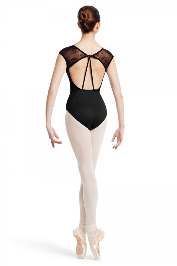 image - MIRELLA Mesh Sleeve Leotard Women's Dance Leotards