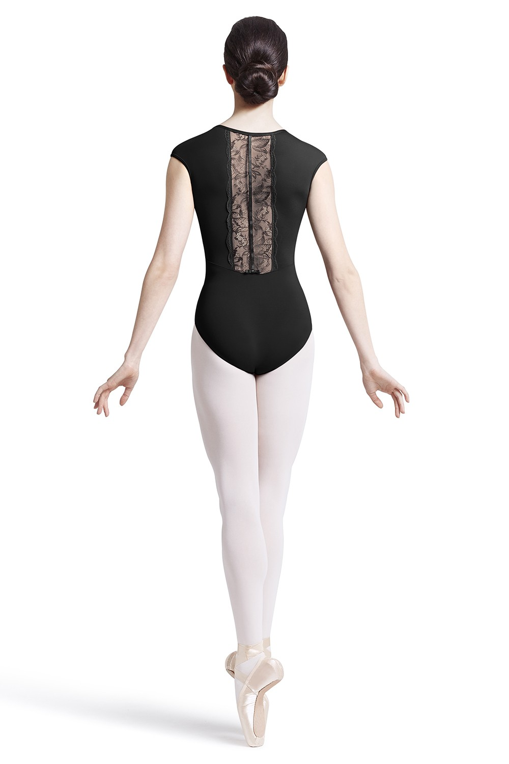 Scallop Lace Back Sleeve Leo Children's Dance Leotards