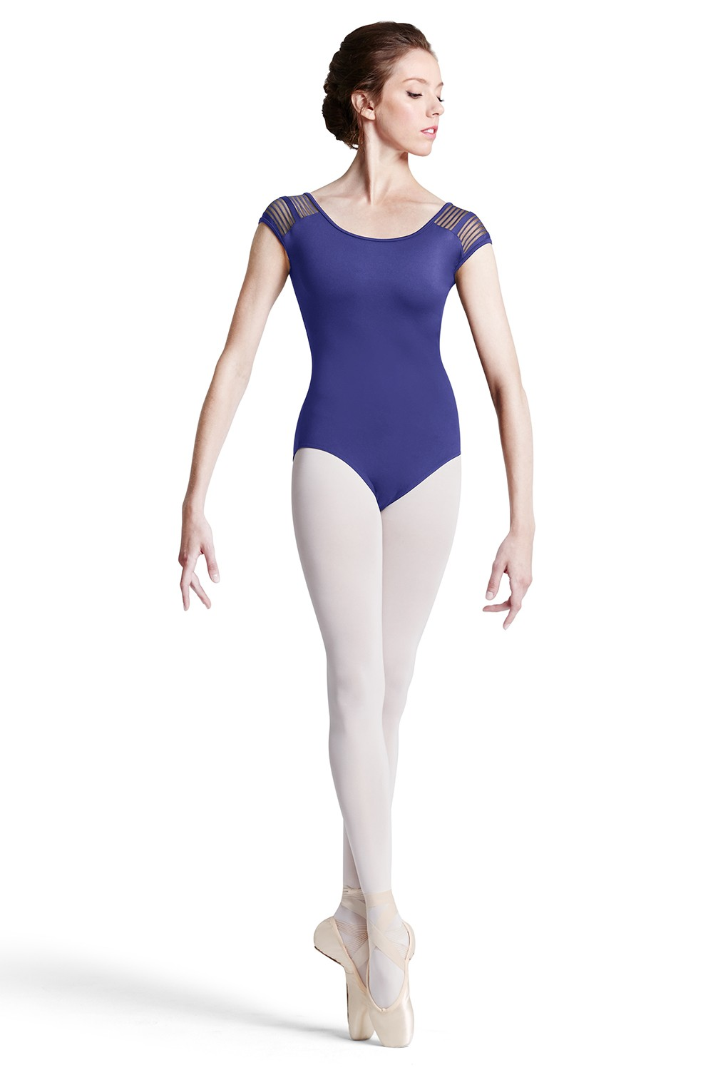 Lace Trim Cap Slv Women's Dance Leotards